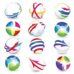 free logo design modern 3d logos design elements vector 04 vector logo free