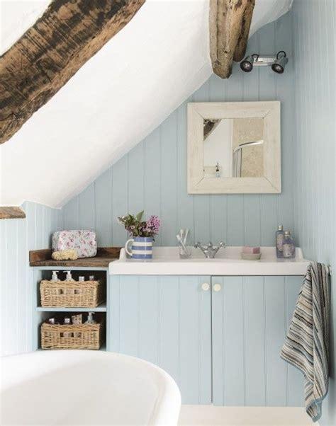 country blue bathroom  bespoke vanity unit cottage