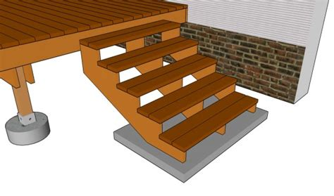 deck stairs plans myoutdoorplans  woodworking
