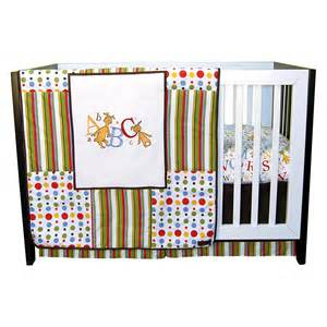 trend lab 3 piece crib bedding set dr seuss abc baby