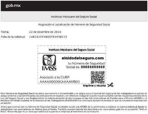 como tramitar numero de seguro social en mexico como analisis n 250 mero de seguro social el