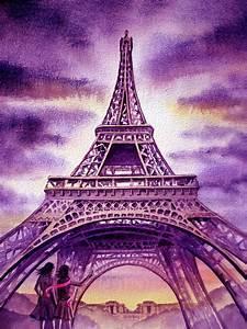 Purple Paris Painting by Irina Sztukowski