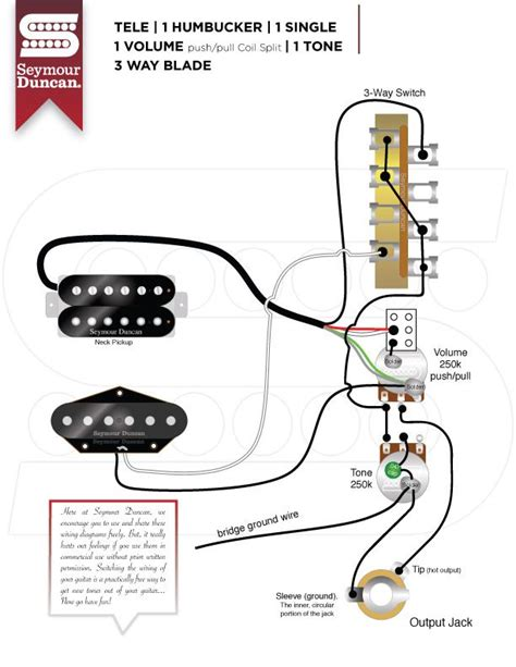 wiring diagrams seymour duncan tele hum single w
