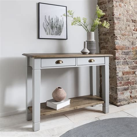 grey entryway table canterbury hallway telephone table console in pine