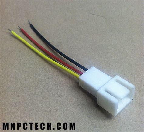 3 pin fan connector 3 pin fan connector bare wire lead