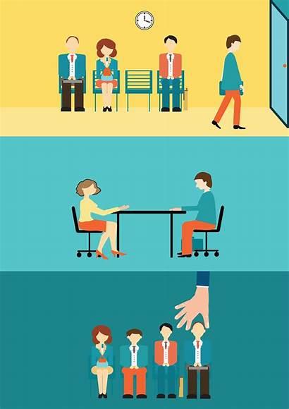 Recruitment Vector Interview Job Clip Candidate Illustration