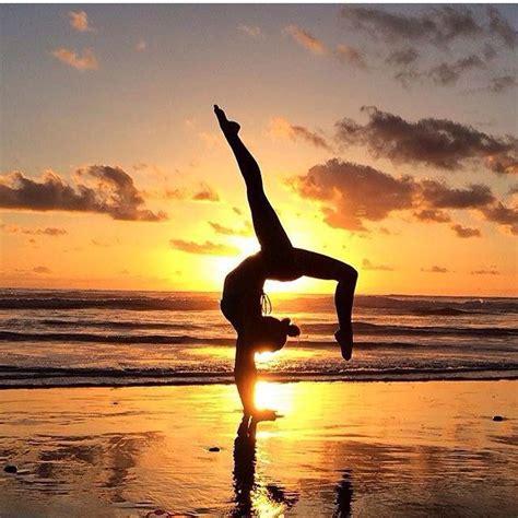 yoga shadow  sunrisesunset yoga poses