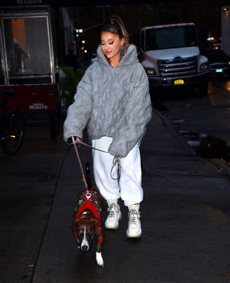 Ariana Grande With Her Dog Out In New York City 02 Gotceleb