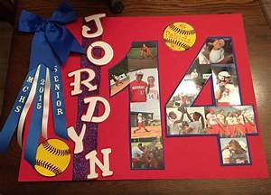 Senior night softball poster crafts pinterest for Softball poster ideas