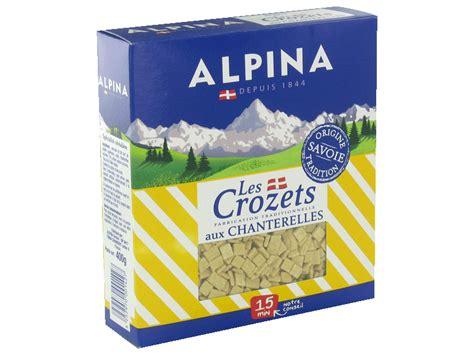 crozets aux chanterelles alpina savoie 400g tous les produits p 226 tes nouilles prixing