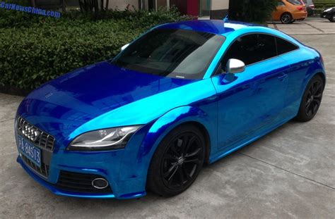 audi tt  shiny dark blue  china carnewschinacom