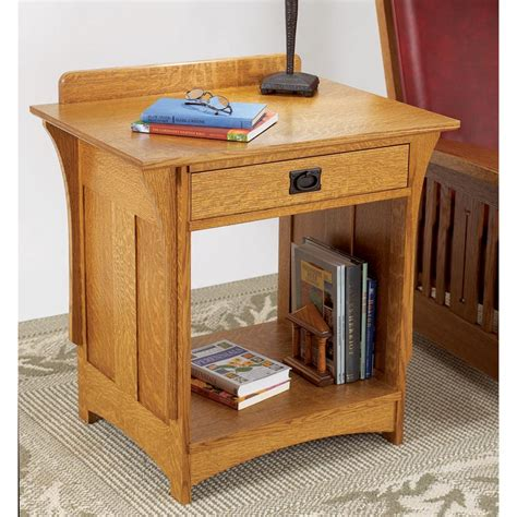 arts  crafts nightstand woodworking plan  wood magazine