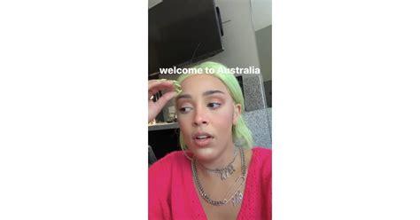 doja cats neon green hair  nails doja cats neon