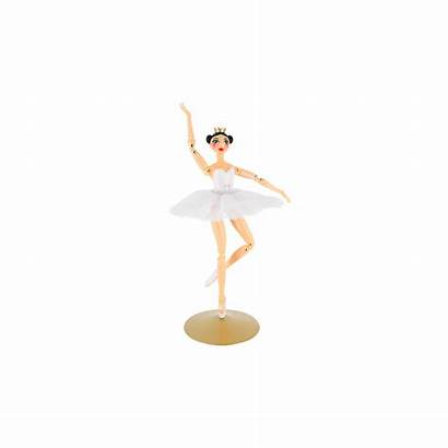 Ballerina Larabesque Bambola Rosa Weiss Schwarz Pylones