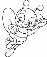 Bee Coloring Pages Honey Outline Cartoon Drawing Leave Getdrawings Gees sketch template