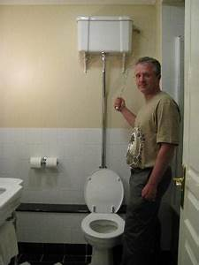 A Pull Chain Toilet