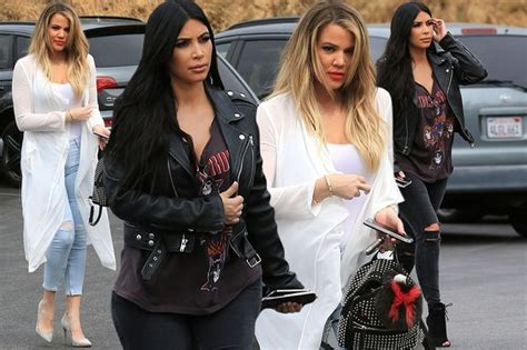 Kim and Khloe Kardashian rock two VERY different styles on ...