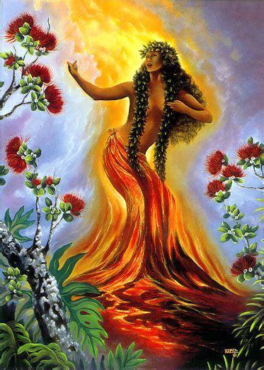 Pele Hawaiian Goddess Paintings