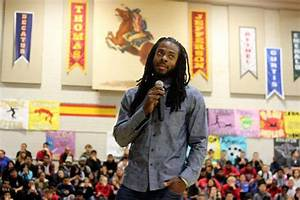 Federal Way students score with visit from Richard Sherman ...