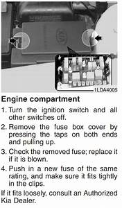 Kia Spectra 2004-2009 Fuse Box Diagram