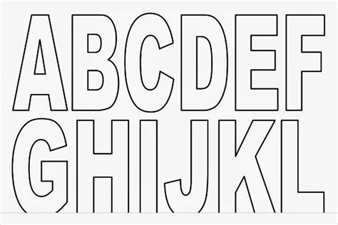 Block Letter Template Free by Printable Block Letters Template Capital Alphabet Letters