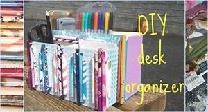 DIY desk organizer - YouTube