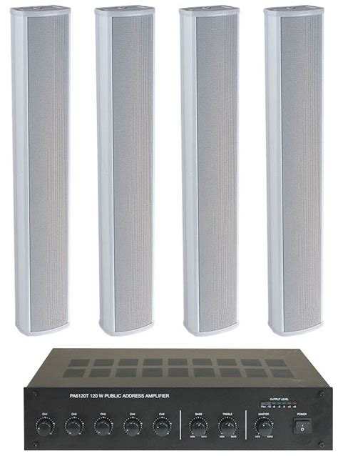 column speaker medium pa system  speakers place