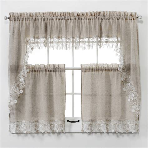 lillian macrame trim tier curtain altmeyers bedbathhome