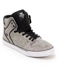 Black and Grey Supra Shoes