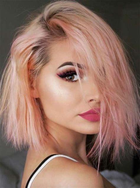 haare mit rosa trendige frisuren mоderne haarfarben und haarschnitte