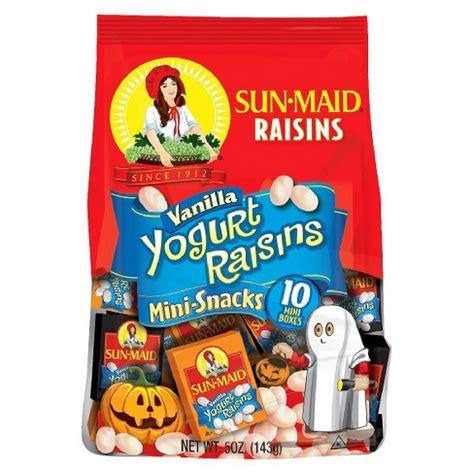Sun-Maid Vanilla Yogurt Raisins Halloween Mini-Snacks 10 ...