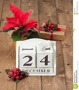 Christmas Eve Date On Calendar. December 24 Stock Photo ...