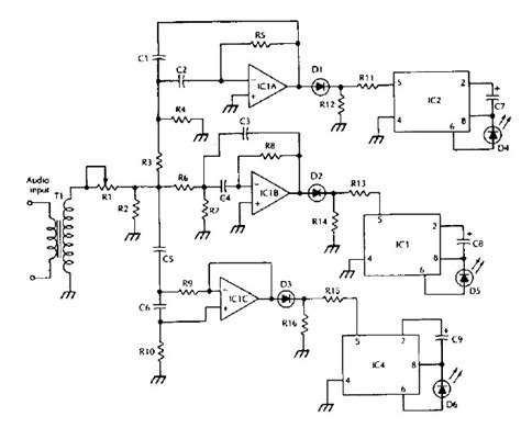 Schematic Diagram Color Organ Electronic Project
