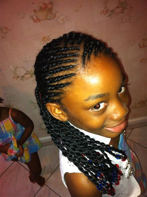 coiffure enfant idees coiffure afro tresses vanille