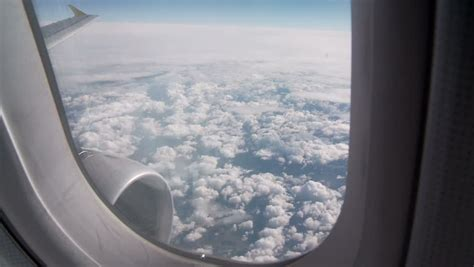 Looking Out The Window Of An Airplane Stock Footage Video