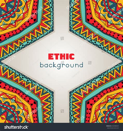 bright ethnic frame abstract background bright stock