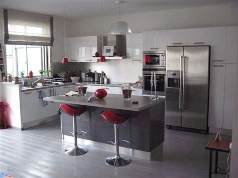 image deco cuisine décoration cuisine blanc et grise exemples d 39 aménagements