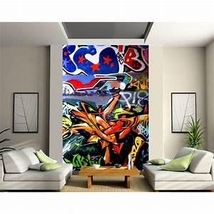 Papier Peint Sticker : papier peint g ant tag art d co stickers ~ Premium-room.com Idées de Décoration