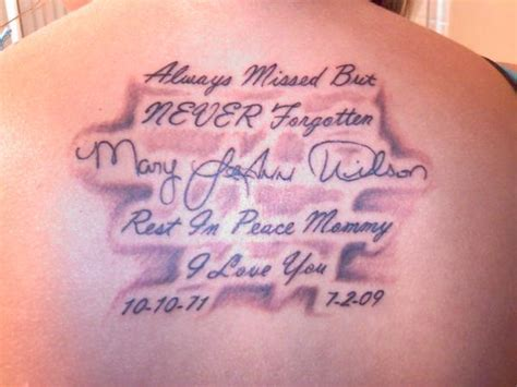 Rest In Peace Quotes Tattoos