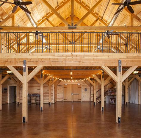 Interior Barn Designs by Commercial Barns Sand Creek Post Beam