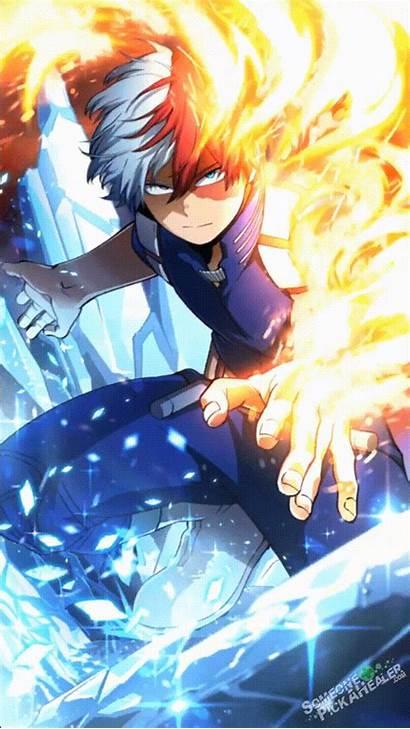 Todoroki Academia Hero Anime Wallpapers Shoto Icy