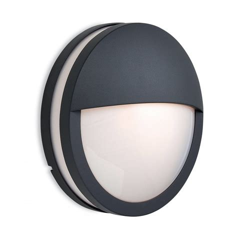 firstlight zenith single light exterior wall light in graphite finish with opal diffuser