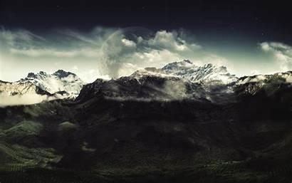 Dark Nature Landscape Mountain Wallpapers 4k Pc