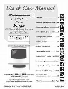 Frigidaire Electric Range Use  U0026 Care Manual