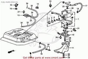 Honda Crx 1986 2dr Si  Ka Kl  Fuel Pump  Pgm
