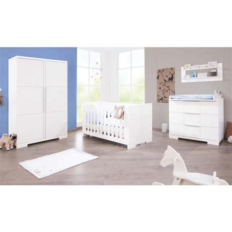 chambre bébé cdiscount chambre bébé polar laqué blanc mat achat vente
