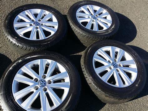 set of genuine vw t5 17 quot inch alloy wheels dunlop 235 55 17 tyres stourbridge sandwell