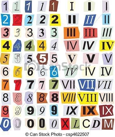 clipart numeri arabo numeri romani numeri taglio giornali