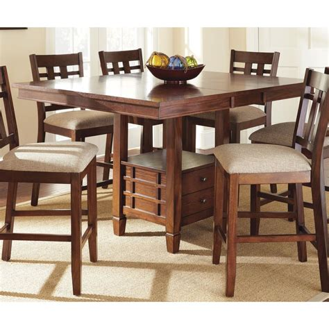 counter height kitchen tables modern medium oak counter height quot dining table