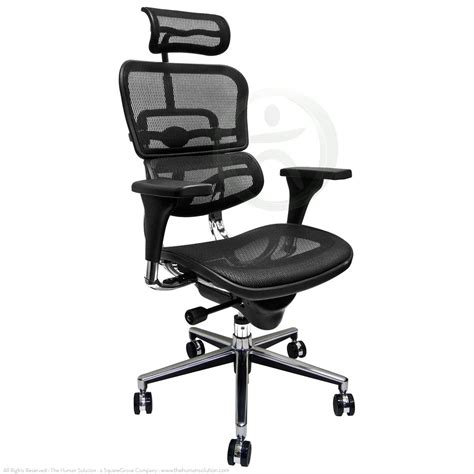 raynor ergohuman me7erg mesh chair with headrest open